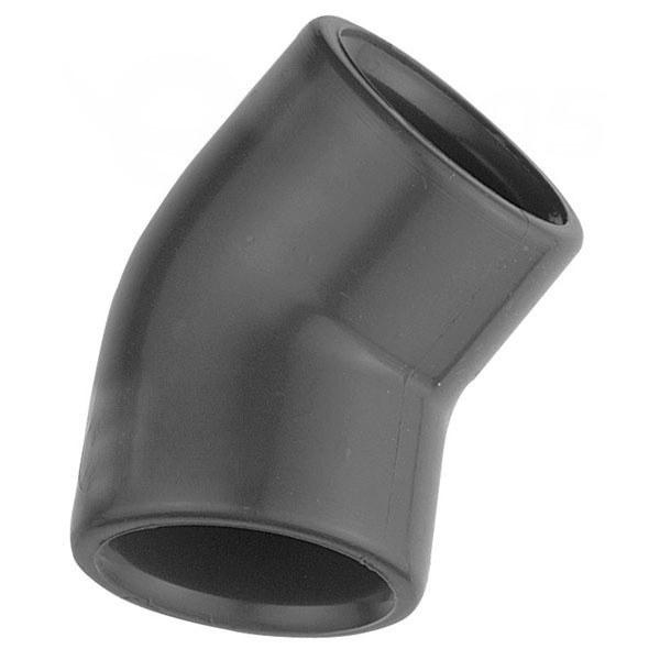 PVC úhel-koleno 45°-20mm - Stavba jezírka,hadice,trubky,fitinky Tvarovky,fitinky Úhly