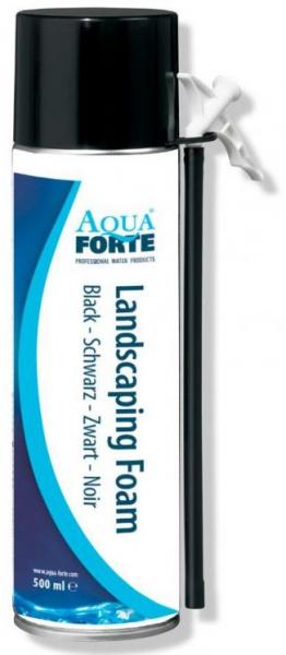 AquaForte černá montážní pěna na lepení kamenů (500ml) - Stavba jezírka,hadice,trubky,fitinky Lepidla,čističe a tmely