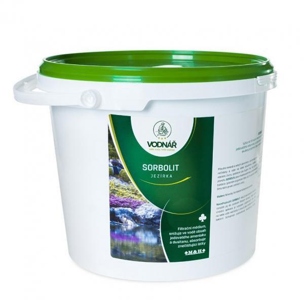 Vodnář SORBOLIT - filtrační médium snižující amoniak a dusitany (5kg) - Péče o vodu, údržba jezírek Úprava hodnot vody
