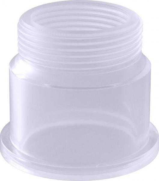 """PVC transparentní díl ke šroubení 50mmx1 1/2"""" - Stavba jezírka,hadice,trubky,fitinky Tvarovky,fitinky Šroubení"""