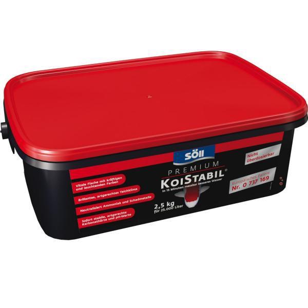 Söll KoiStabil-do 15 minut zlepšení kvality vody (2,5kg na 25m3) - Péče o vodu, údržba jezírek Úprava hodnot vody