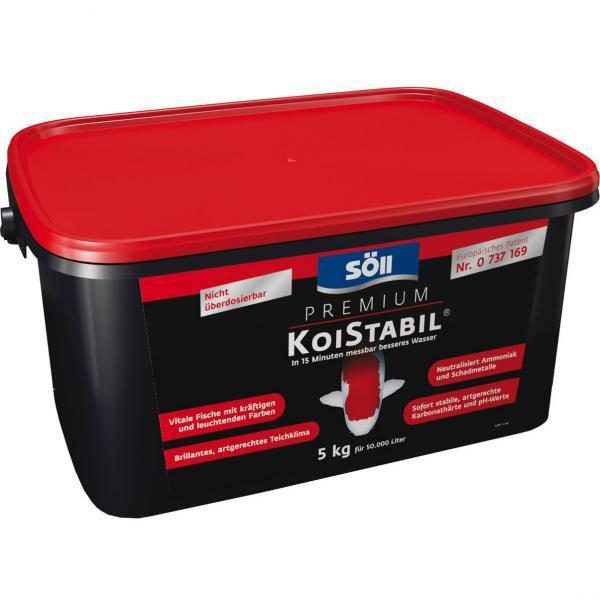 Söll KoiStabil-do 15 minut zlepšení kvality vody (5kg na 50m3) - Péče o vodu, údržba jezírek Úprava hodnot vody