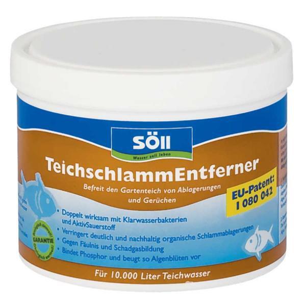 Söll TeichschlammEntferner-odstraňuje bahno a kal (500g na 10m3) - Péče o vodu, údržba jezírek Přípravky na odstranění bahna