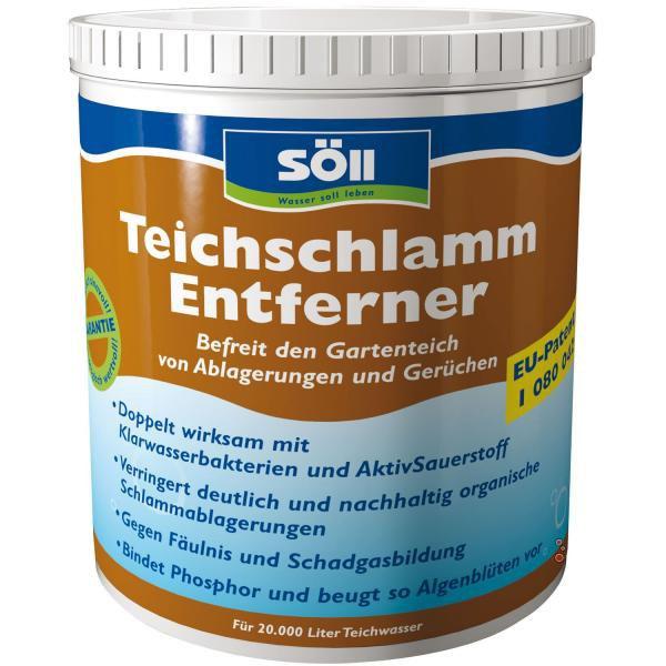 Söll TeichschlammEntferner-odstraňuje bahno a kal (1kg na 20m3) - Péče o vodu, údržba jezírek Přípravky na odstranění bahna