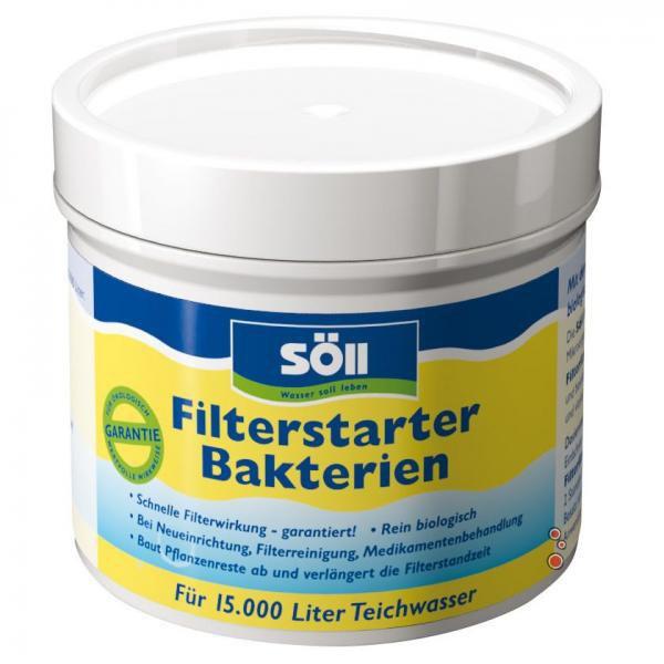 Söll FilterStarter Bakterien-startovací bakterie (100g na 15m3) - Péče o vodu, údržba jezírek Startovací bakterie