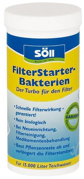 Söll FilterStarter Bakterien-startovací bakterie (250g na 37,5m3) - Péče o vodu, údržba jezírek Startovací bakterie