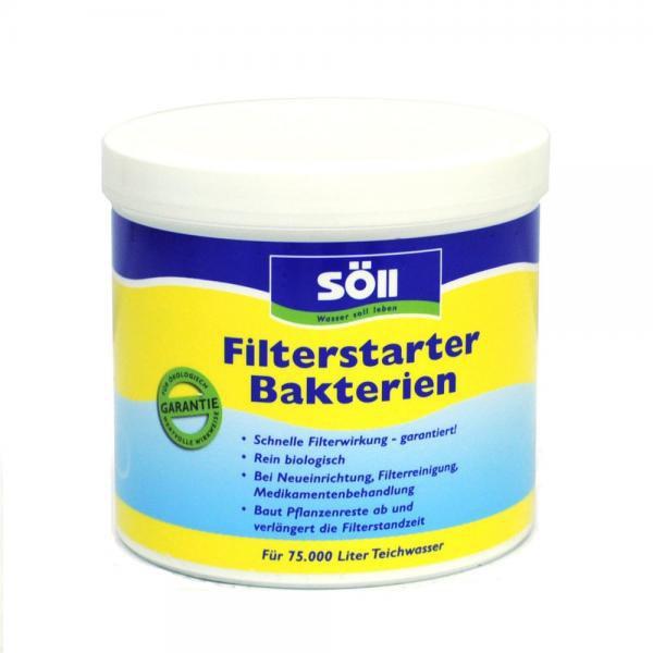 Söll FilterStarter Bakterien-startovací bakterie (500g na 75m3) - Péče o vodu, údržba jezírek Startovací bakterie