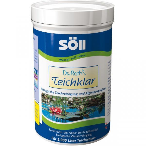 Söll Dr. Roths TeichKlar-pro čisté jezírko (250g na 5m3) - Péče o vodu Úprava hodnot vody