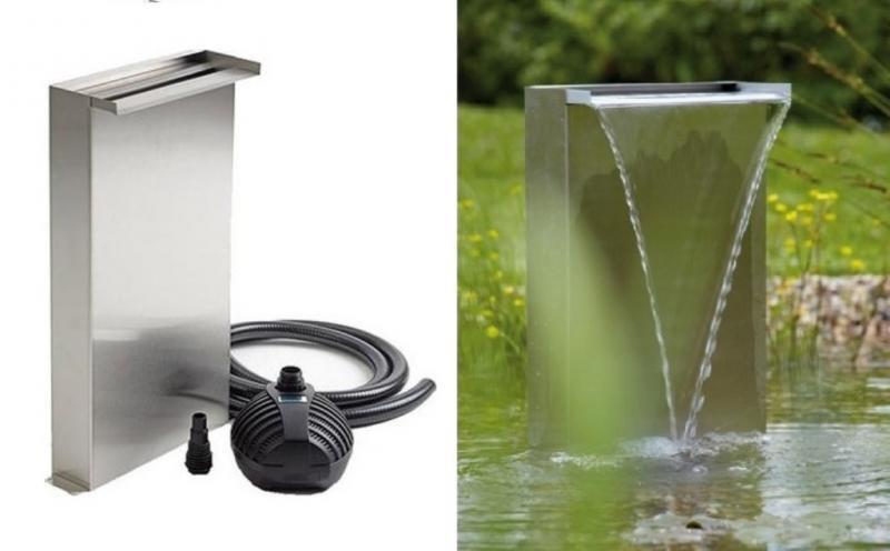 Oase Waterfall Set 30 (nerezový vodopád) - Vodní hry a fontány Vodopády