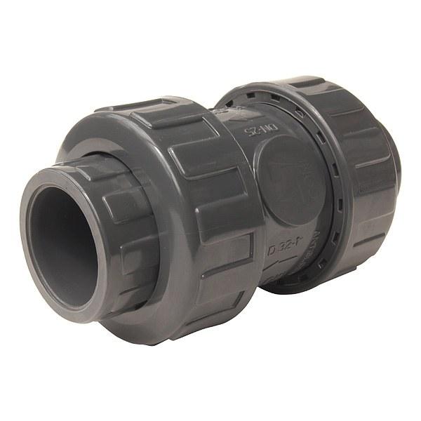 PVC zpětná klapka (ventil) 40mm - Stavba jezírka,hadice,trubky,fitinky Kulové ventily, klapky, rozdělovače