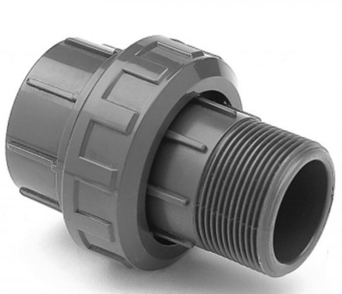 """PVC šroubení 20mm x 1/2"""" ext. (zesílené) - Stavba jezírka,hadice,trubky,fitinky Tvarovky,fitinky Šroubení"""