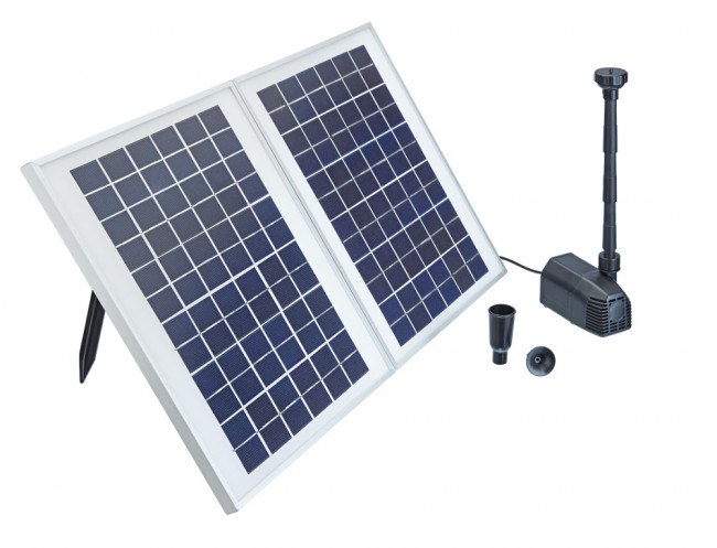 Pontec PondoSolar 1600 (jezírkové čerpadlo na solární pohon) - Vodní hry a fontány Solární čerpadla
