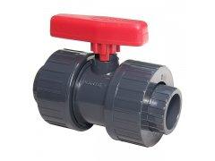 PVC kulový dvoucestný ventil 40mm