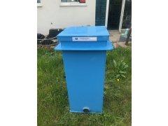 Čerpadlová šachta modrá s víkem (104x42x42cm) - bazar