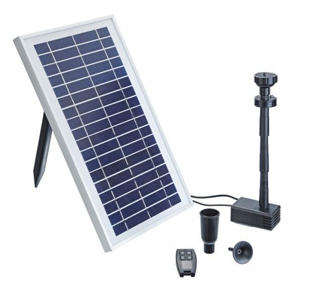 Pontec PondoSolar 600 control (jezírkové čerpadlo na solární pohon) - Vodní hry a fontány Solární čerpadla