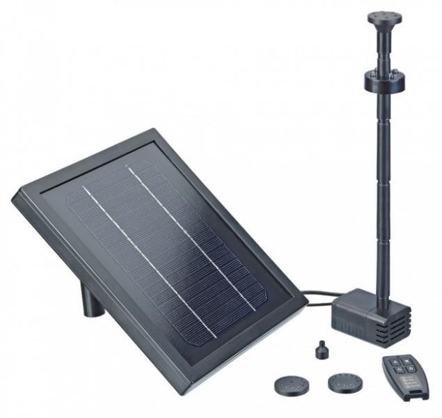 Pontec PondoSolar 250 control (jezírkové čerpadlo na solární pohon) - Vodní hry a fontány Solární čerpadla