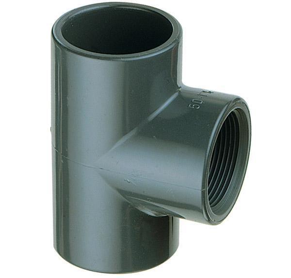 """PVC T-kus 90° 50mm x 1"""" int. - Stavba jezírka,hadice,trubky,fitinky Tvarovky,fitinky T-kusy, Y-kusy, kříže"""