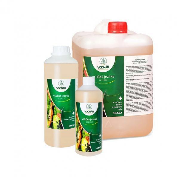 Vodnář VLOČKA jezírka - pro odstranění zelené vody,fosfátů (0,5 l na 15-25m3) - Péče o vodu Přípravky proti zelené vodě