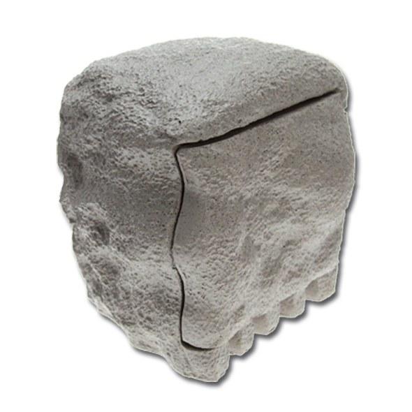 Zahradní zásuvka (dvojnásobná + časovač v imitaci kamene) - Osvětlení, elektro u jezírka Zahradní sloupky,zásuvky
