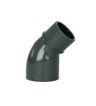 "PVC úhel-koleno 45°-50mm x 1 1/2"" ext - Stavba jezírka,hadice,trubky,fitinky Tvarovky,fitinky Úhly"