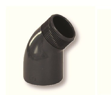 "PVC úhel-koleno 45°-63mm x 2"" ext. - Stavba jezírka,hadice,trubky,fitinky Tvarovky,fitinky Úhly"