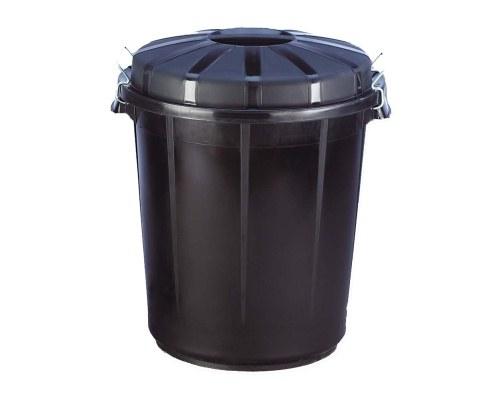 Nádoba odpadová 70 l s víkem černá - Potřeby na zahradu Nádoby