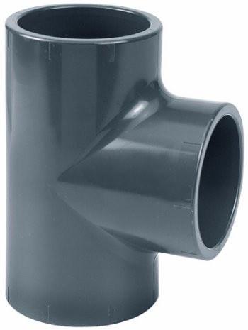 PVC T-kus 90° 50mm x 32mm redukovaný - Stavba jezírka,hadice,trubky,fitinky Tvarovky,fitinky T-kusy, Y-kusy, kříže