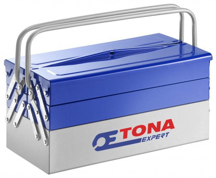 Tona kovová rozkládací přepravka 5 sekcí - Nářadí a příslušenství Boxy, kufry, skříňky na nářadí