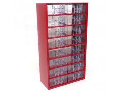 Skříňka 16 x B červená