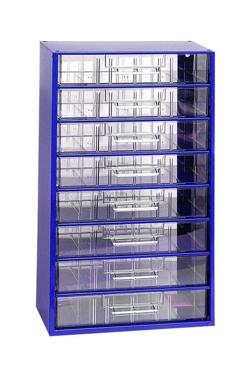 Skříňka 8 x C modrá - Nářadí a příslušenství Boxy, kufry, skříňky na nářadí