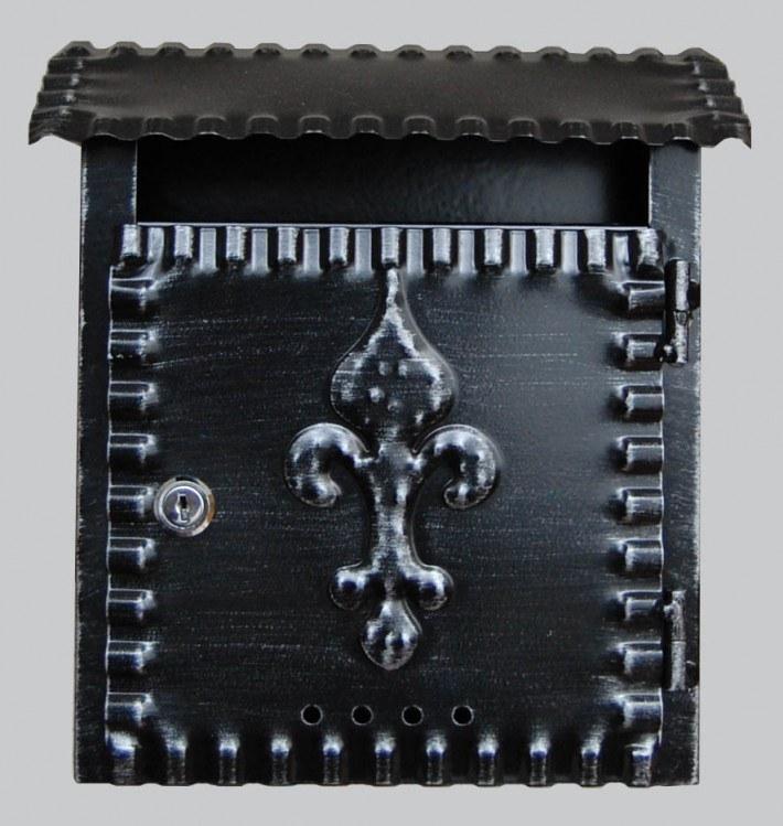 Schránka poštovní ROMAN černá - Potřeby pro domácnost Schránky, pokladny, skříňky