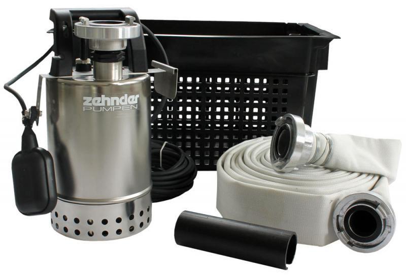 Zehnder Pumpen Flutset-kalové ponorné čerpadlo-povodňová souprava - Čerpadla, čerpadlové šachty Čerpadla Zehnder Pumpen Kalová čerpadla