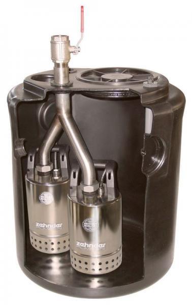 Zehnder Pumpen SWH 500/80 Doppel (přečerpávací zařízení pro odpadní vodu) - Čerpadla, čerpadlové šachty Čerpadla Zehnder Pumpen Přečerpávací zařízení pro odpadní vody