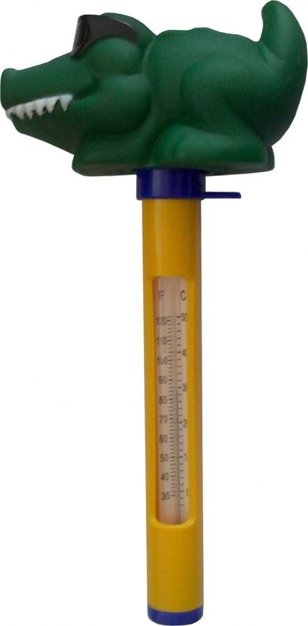 Plovoucí teploměr se zvířátky - Krokodýl s brýlemi - Péče o vodu, údržba jezírek Testování vody Měření teploty vody