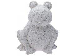 Žába bílo-šedá velká (keramika)