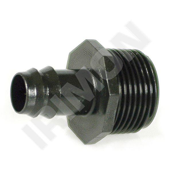 """Závitový přechod nástrčný 16 mm x 3/4"""" vnější závit, ABS - Závlahový systém Kapkovací potrubí a mikrozávlaha Tvarovky pro kapkovací potrubí"""