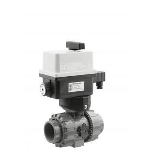 PVC kulový el. dvoucestný ventil 63mm, 230V, FIP – pro solární systémy - Stavba jezírka,hadice,trubky,fitinky Kulové ventily, klapky, rozdělovače