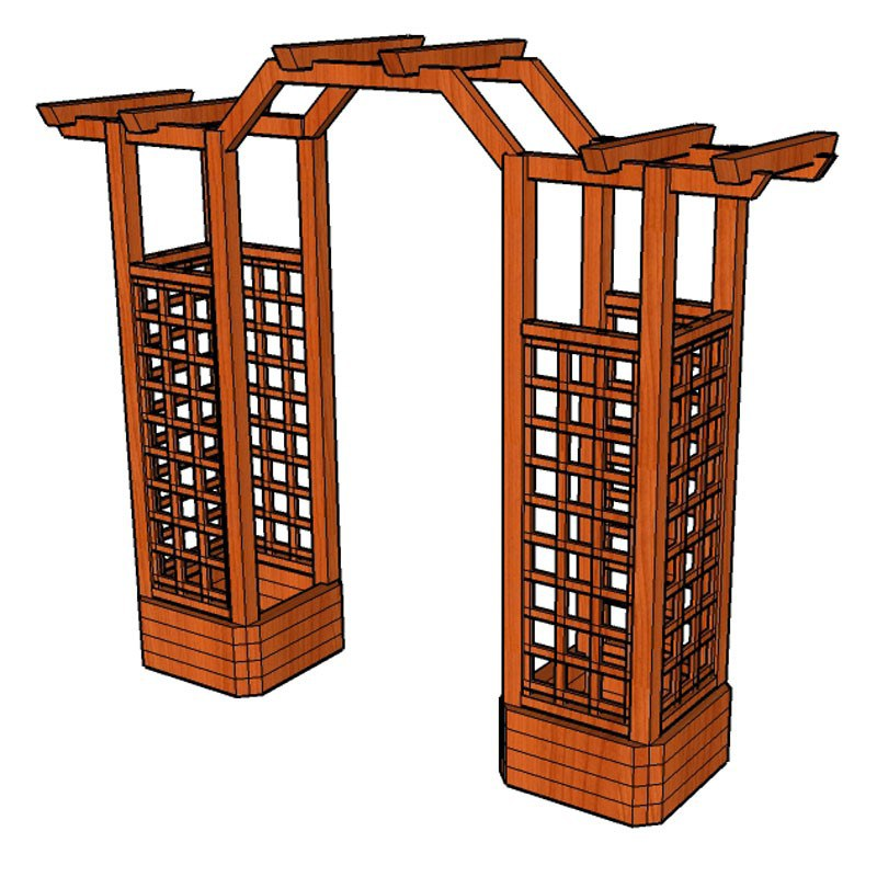 Pergola Linda 15 průchozí 120cm - Zahradní architektura Pergoly, lavičky