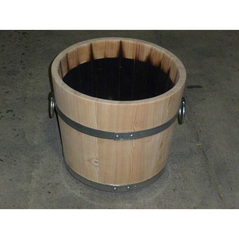 Dřevěný džber 40 cm - Zahradní architektura Květinové truhlíky, studny