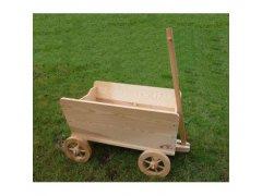 Dřevěný vozík s ojí malý