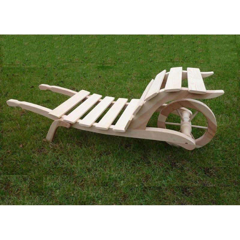 Dřevěný trakař střední - Zahradní architektura Květinové truhlíky, studny