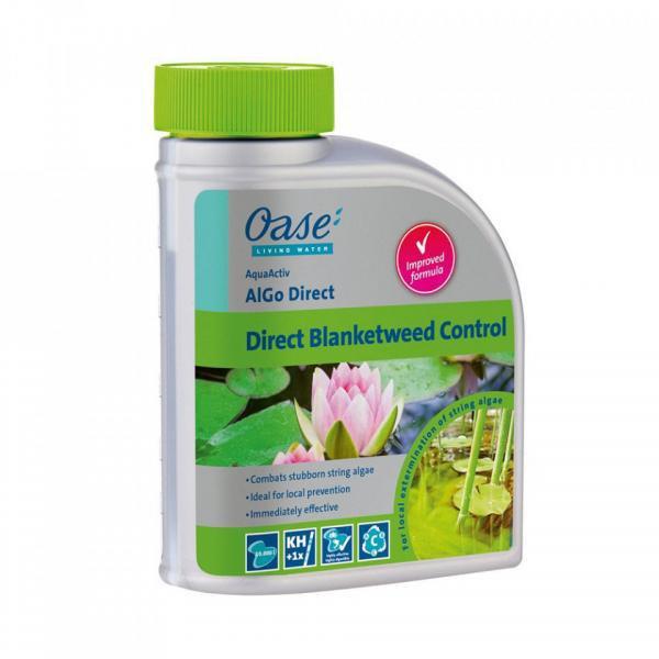 Oase Algo Direct - působí rychle proti vláknitým řasám (500ml na 10m3) - Péče o vodu, údržba jezírek Odstranění vláknité řasy