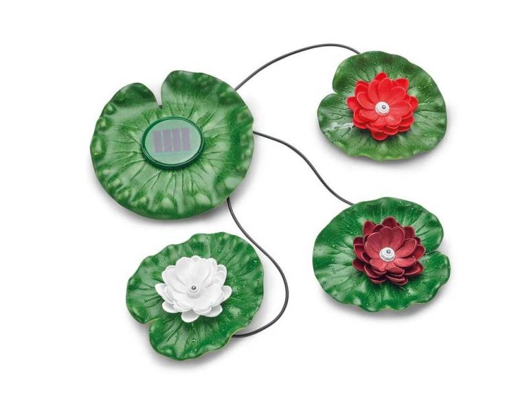 Pontec PondoSolar Lily LED set 3 (vodní lekníny s osvětlením) - Osvětlení, elektro k jezírku Zahradní osvětlení