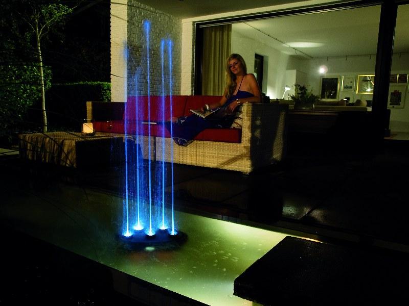 Oase Water Quintet (fontána) - Osvětlení, elektro k jezírku Vodní hry s osvětlením