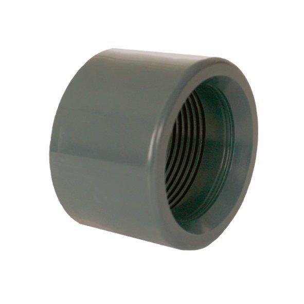 """PVC redukce krátká vkládací se závitem 50 x 1 1/4"""" int. - Stavba jezírka,hadice,trubky,fitinky Tvarovky,fitinky Redukce"""