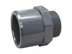 """PVC přechodový nipl 40-32mm x 3/4"""" ext."""