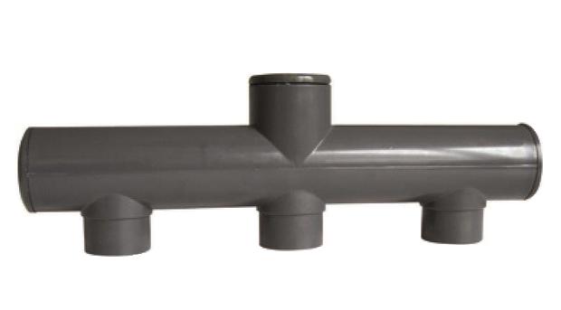 PVC trojcestné potrubí - středové (50mm) - Stavba jezírka,hadice,trubky,fitinky Tvarovky,fitinky T-kusy, Y-kusy, kříže