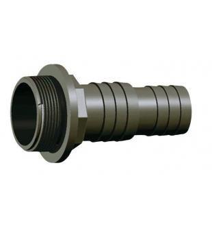 """PVC hadicový trn 32/38mm x 1 1/2"""" ext. - Stavba jezírka,hadice,trubky,fitinky Tvarovky,fitinky Hadicové trny"""
