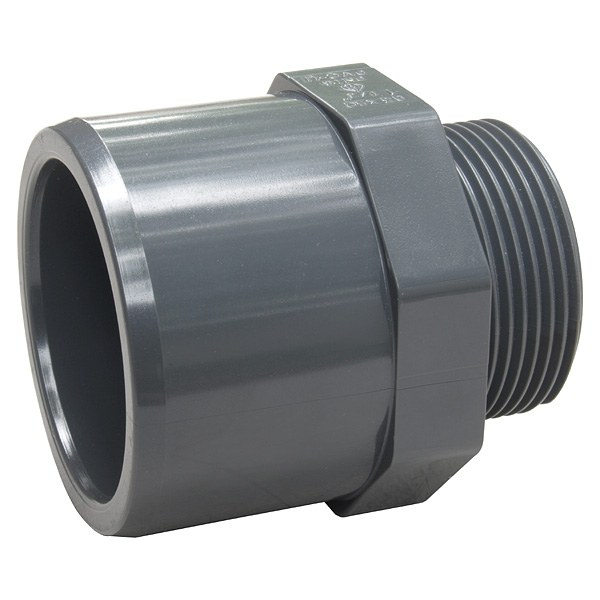 """PVC přechodový nipl 50–40 x 1 1/4"""" ext. - Stavba jezírka,hadice,trubky,fitinky Tvarovky,fitinky Přechodové niply, dvojniply"""