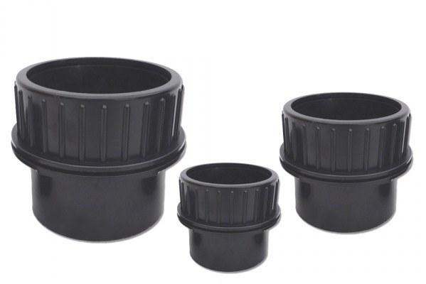 PVC stěnová průchodka šroubovací 40mm - Stavba jezírka,hadice,trubky,fitinky Tvarovky,fitinky Stěnové průchodky